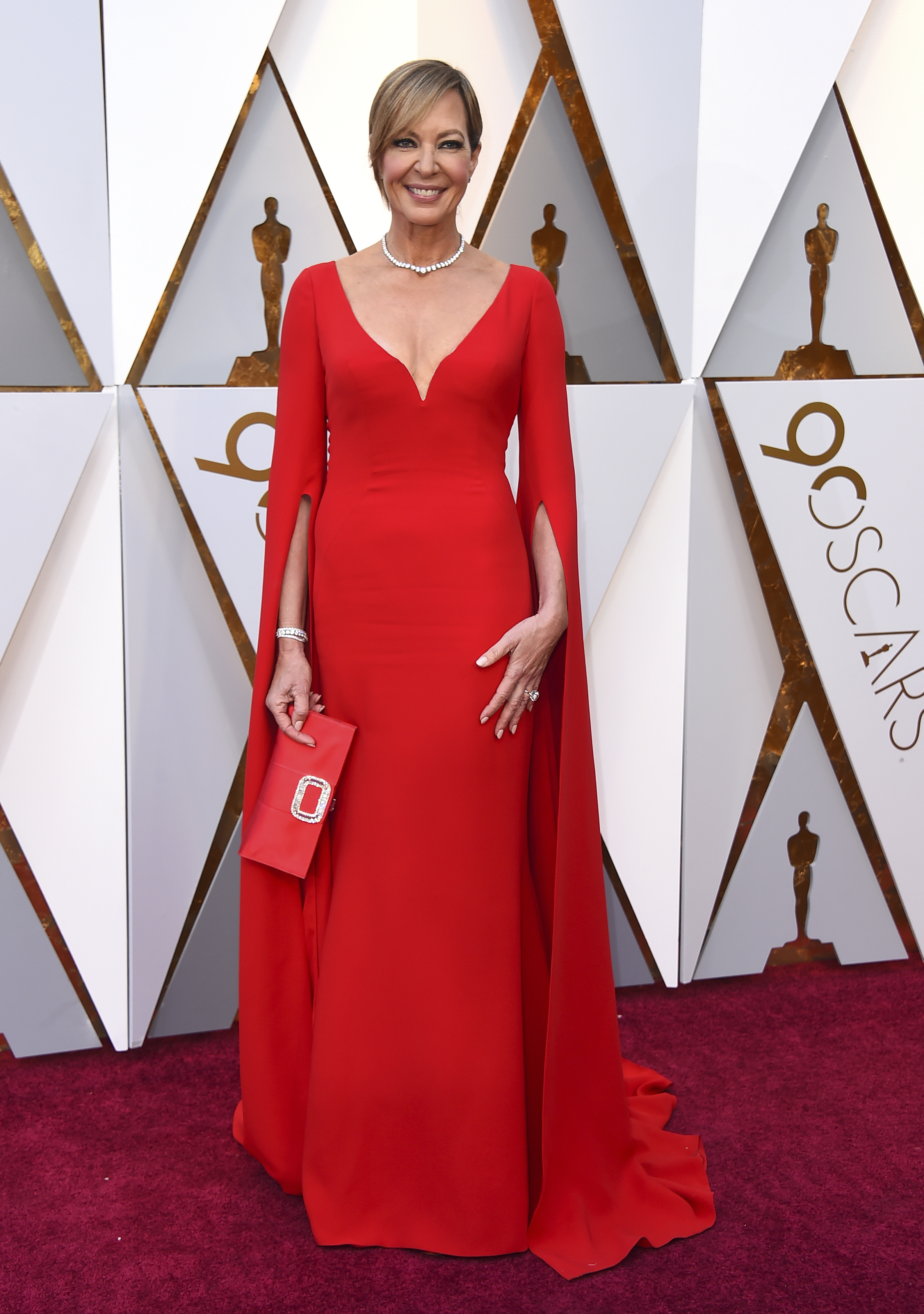 "<div class=""meta image-caption""><div class=""origin-logo origin-image none""><span>none</span></div><span class=""caption-text"">Best Supporting Actress nominee Allison Janney of ''I, Tonya'' arrives at the Oscars on Sunday, March 4, 2018, at the Dolby Theatre in Los Angeles. (Jordan Strauss/Invision/AP)</span></div>"