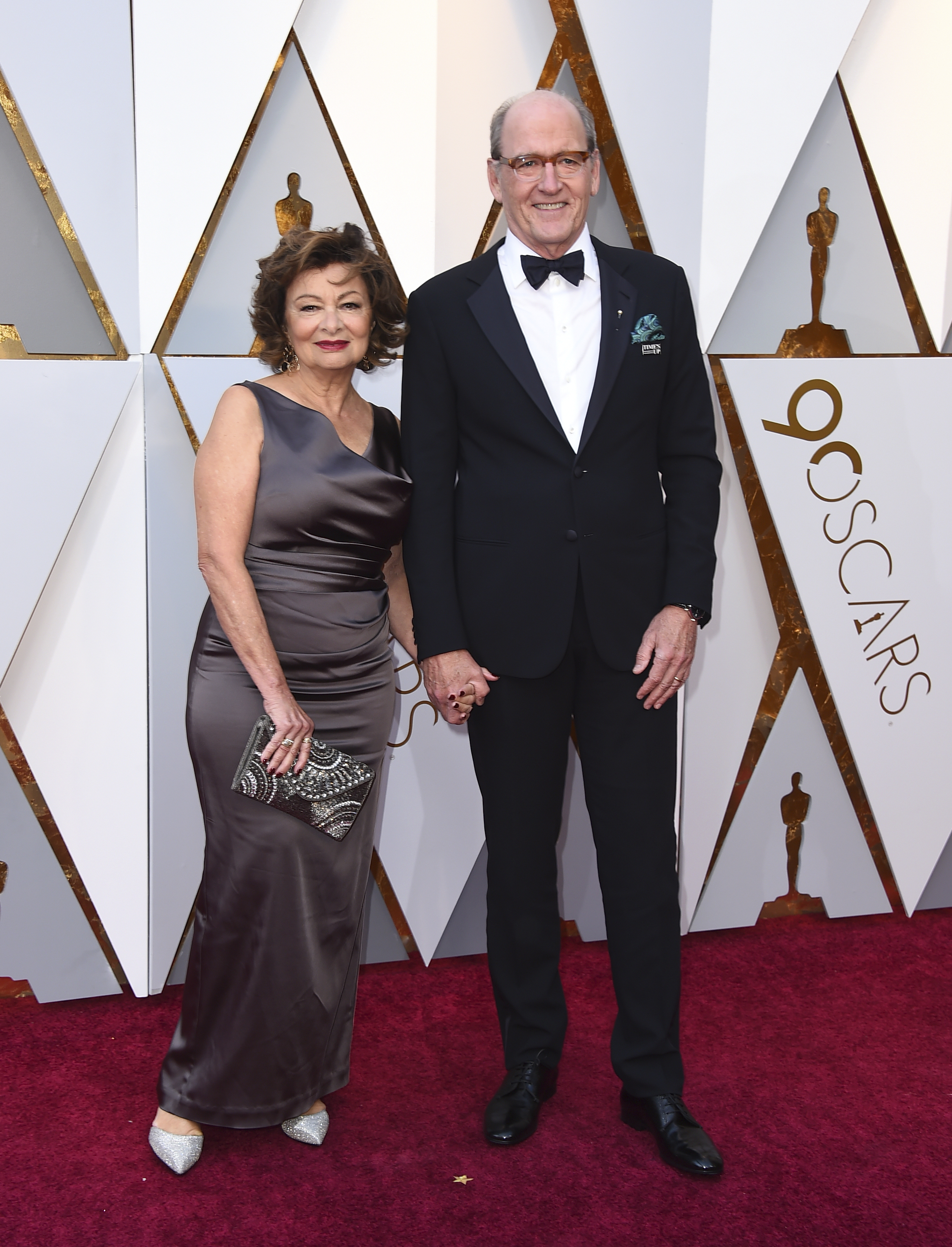 <div class='meta'><div class='origin-logo' data-origin='none'></div><span class='caption-text' data-credit='Jordan Strauss/Invision/AP'>Sharon R. Friedrick, left, and Richard Jenkins arrive at the Oscars on Sunday, March 4, 2018, at the Dolby Theatre in Los Angeles.</span></div>
