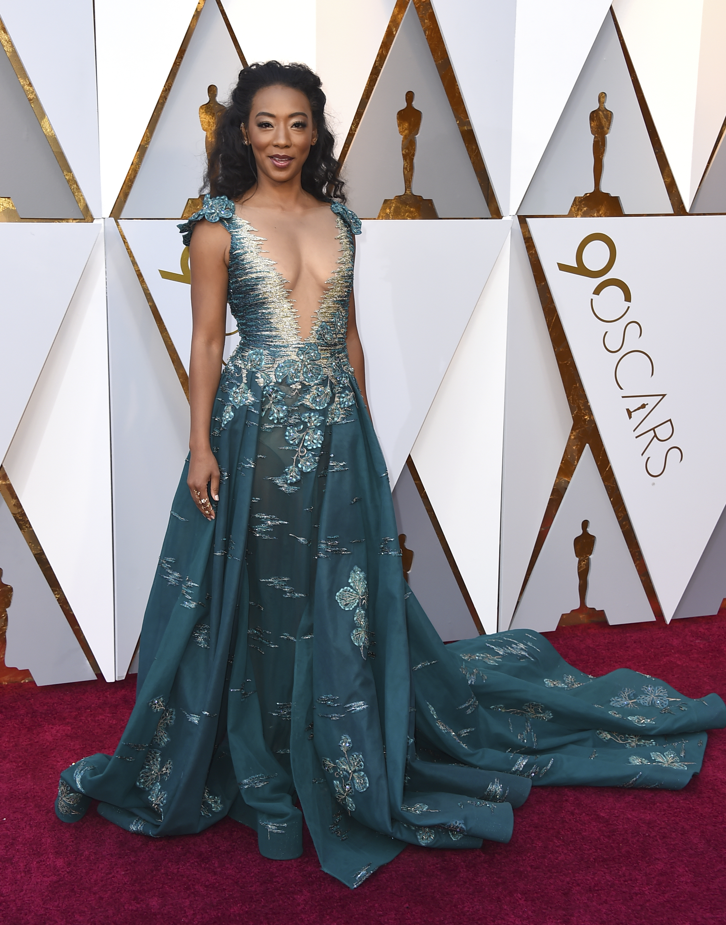 <div class='meta'><div class='origin-logo' data-origin='none'></div><span class='caption-text' data-credit='Jordan Strauss/Invision/AP'>Betty Gabriel of ''Get Out'' arrives at the Oscars on Sunday, March 4, 2018, at the Dolby Theatre in Los Angeles.</span></div>
