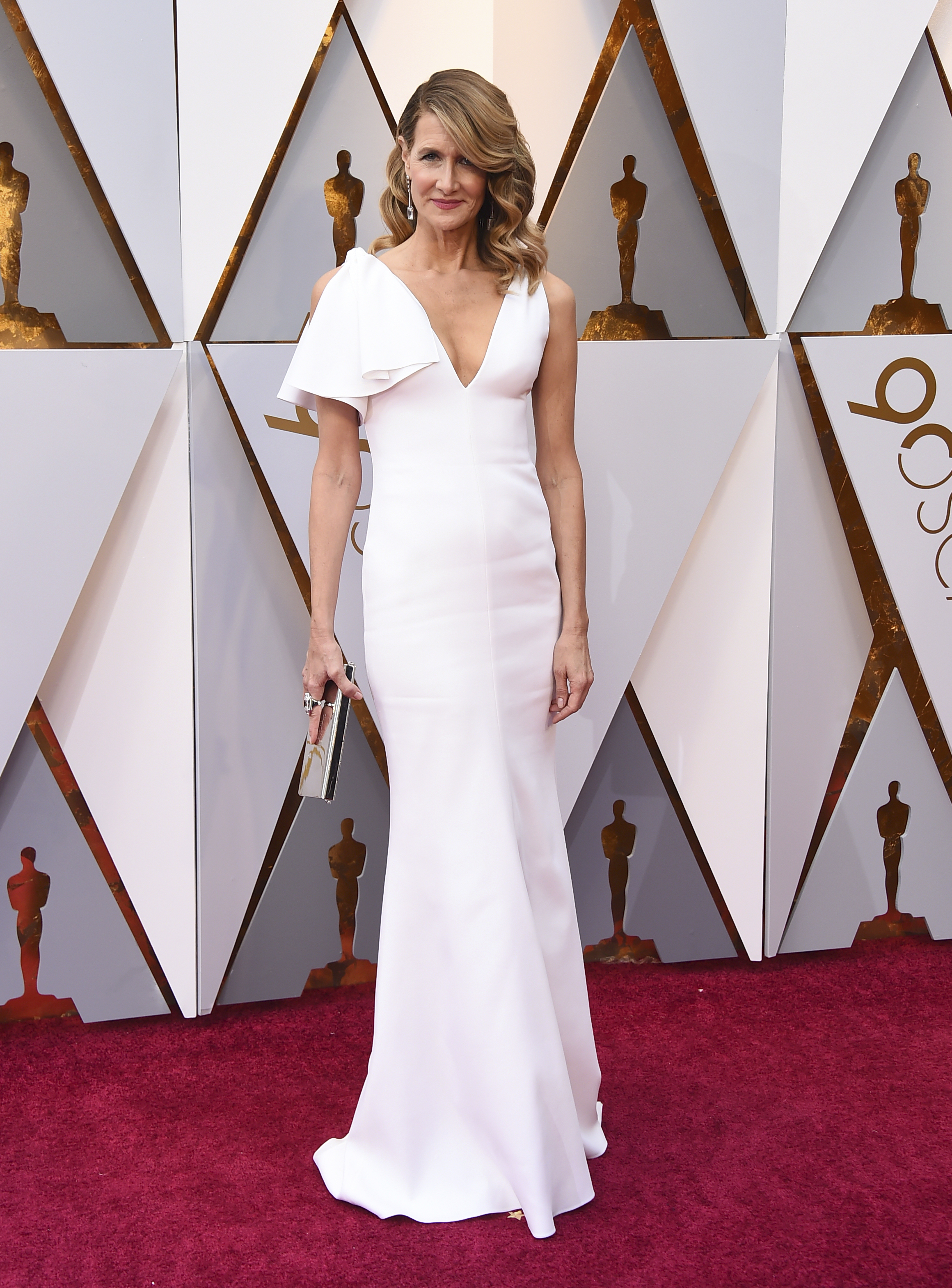 <div class='meta'><div class='origin-logo' data-origin='none'></div><span class='caption-text' data-credit='Jordan Strauss/Invision/AP'>Laura Dern arrives at the Oscars on Sunday, March 4, 2018, at the Dolby Theatre in Los Angeles.</span></div>