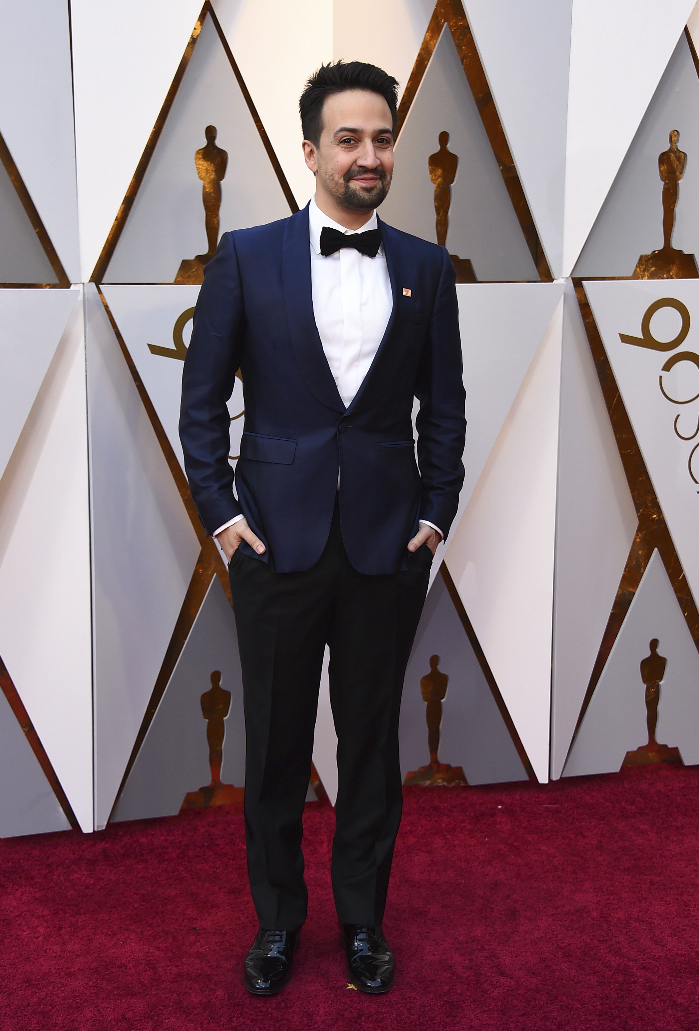 <div class='meta'><div class='origin-logo' data-origin='none'></div><span class='caption-text' data-credit='Jordan Strauss/Invision/AP'>Lin-Manuel Miranda arrives at the Oscars on Sunday, March 4, 2018, at the Dolby Theatre in Los Angeles.</span></div>