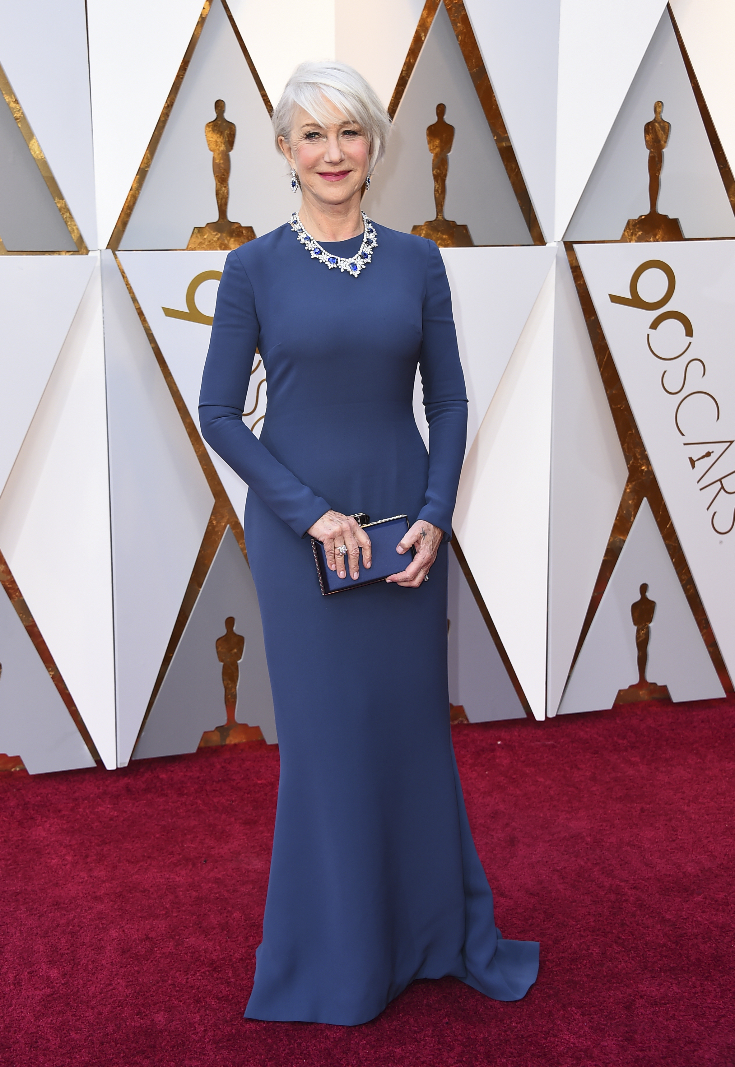 <div class='meta'><div class='origin-logo' data-origin='none'></div><span class='caption-text' data-credit='Jordan Strauss/Invision/AP'>Helen Mirren arrives at the Oscars on Sunday, March 4, 2018, at the Dolby Theatre in Los Angeles.</span></div>