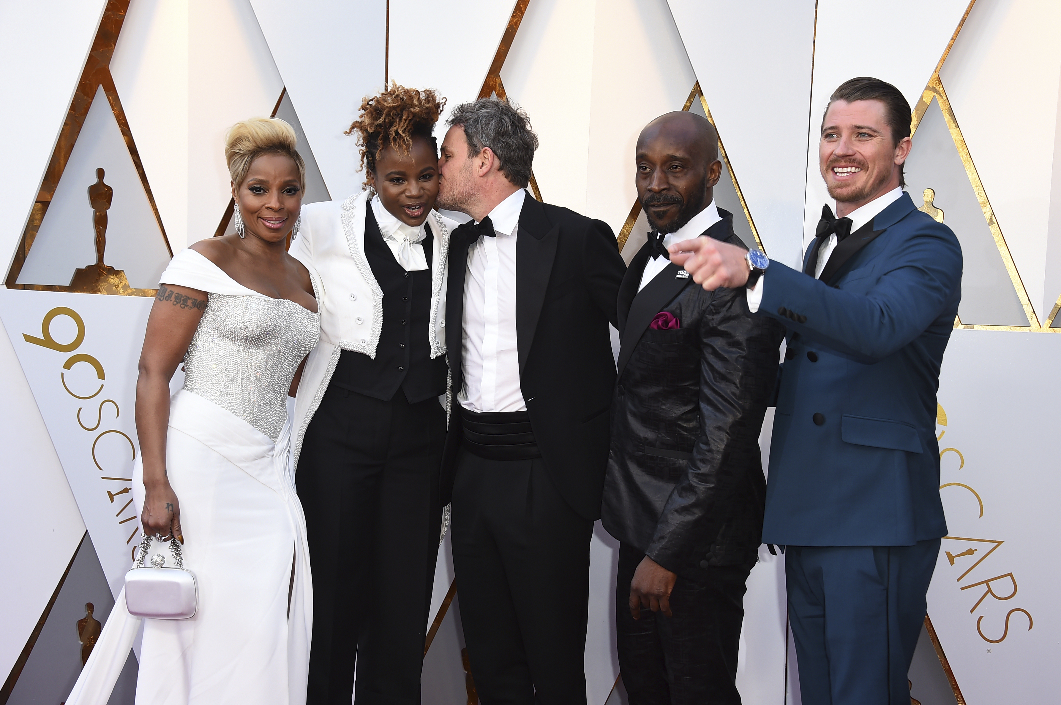 <div class='meta'><div class='origin-logo' data-origin='none'></div><span class='caption-text' data-credit='Jordan Strauss/Invision/AP'>''Mudbound'' cast and creative team Mary J. Blige, from left, Dee Rees, Jason Clarke, Rob Morgan, and Garrett Hedlund arrive at the Oscars.</span></div>