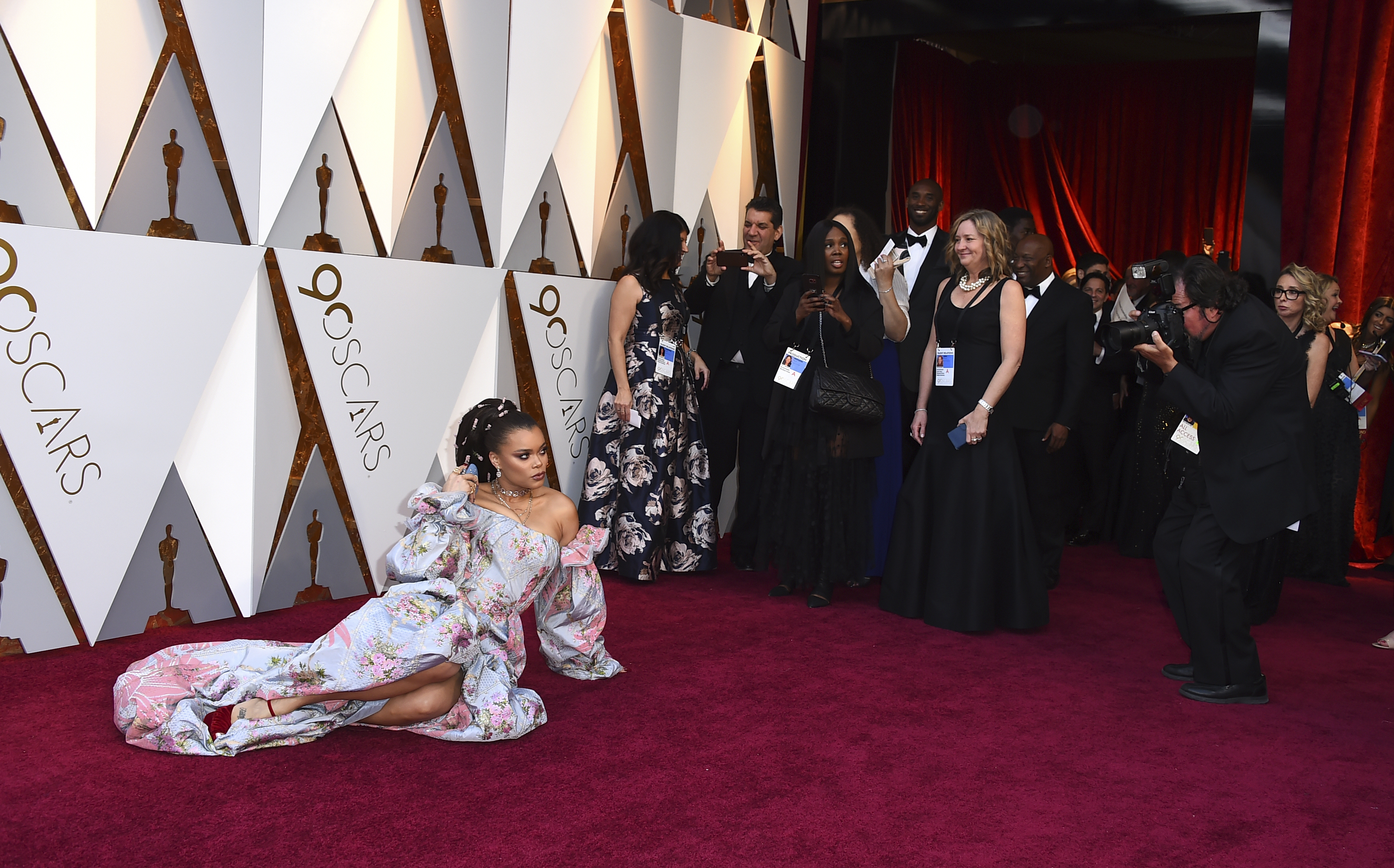 <div class='meta'><div class='origin-logo' data-origin='none'></div><span class='caption-text' data-credit='Jordan Strauss/Invision/AP'>Andra Day arrives at the Oscars on Sunday, March 4, 2018, at the Dolby Theatre in Los Angeles.</span></div>