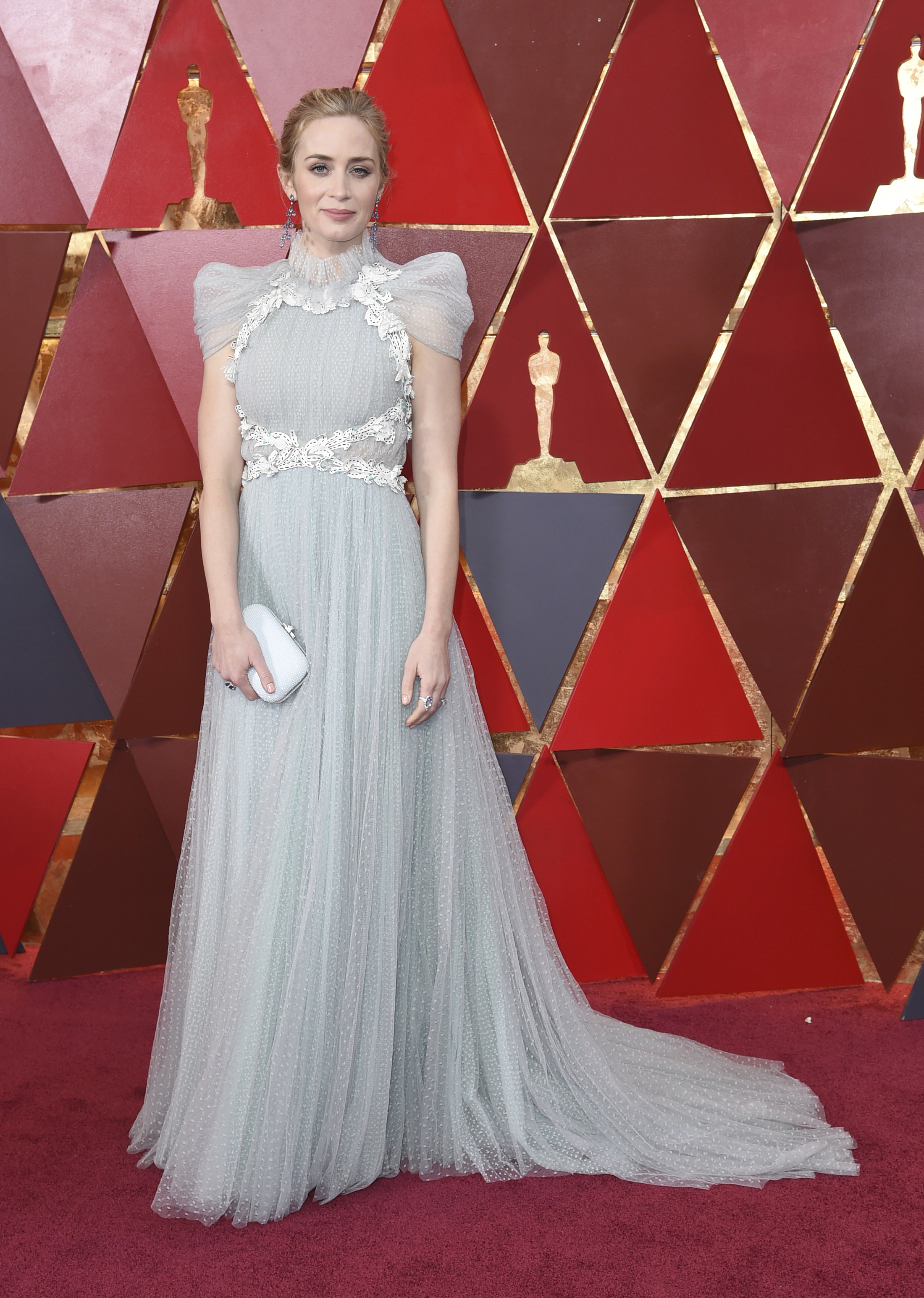 <div class='meta'><div class='origin-logo' data-origin='none'></div><span class='caption-text' data-credit='Richard Shotwell/Invision/AP'>Emily Blunt of ''Mary Poppins Returns'' arrives at the Oscars on Sunday, March 4, 2018, at the Dolby Theatre in Los Angeles.</span></div>