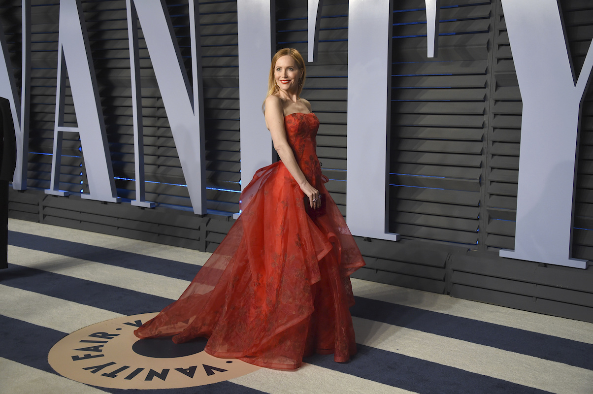 "<div class=""meta image-caption""><div class=""origin-logo origin-image ap""><span>AP</span></div><span class=""caption-text"">Leslie Mann arrives at the Vanity Fair Oscar Party on Sunday, March 4, 2018, in Beverly Hills, Calif. (Evan Agostini/Invision/AP)</span></div>"