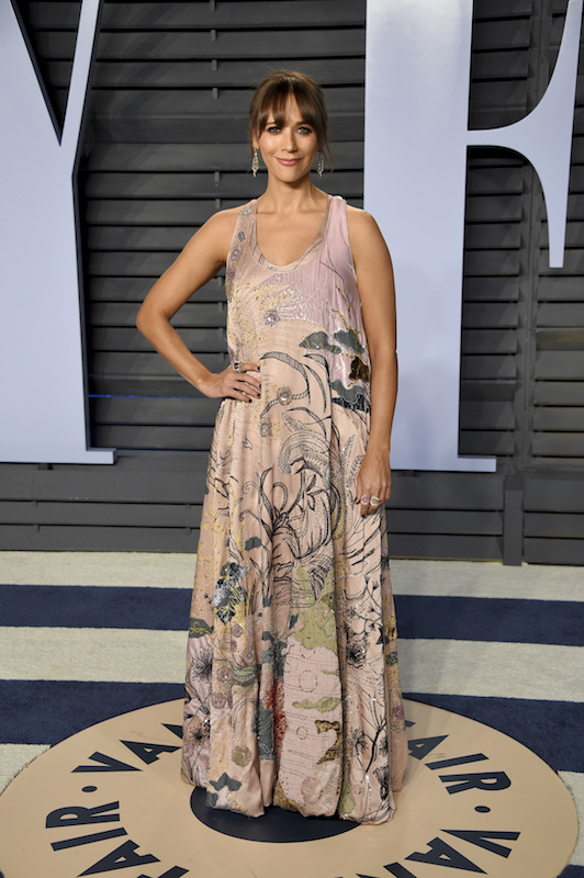 "<div class=""meta image-caption""><div class=""origin-logo origin-image ap""><span>AP</span></div><span class=""caption-text"">Rashida Jones arrives at the Vanity Fair Oscar Party on Sunday, March 4, 2018, in Beverly Hills, Calif. (Evan Agostini/Invision/AP)</span></div>"