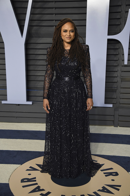 "<div class=""meta image-caption""><div class=""origin-logo origin-image ap""><span>AP</span></div><span class=""caption-text"">Ava DuVernay arrives at the Vanity Fair Oscar Party on Sunday, March 4, 2018, in Beverly Hills, Calif. (Evan Agostini/Invision/AP)</span></div>"