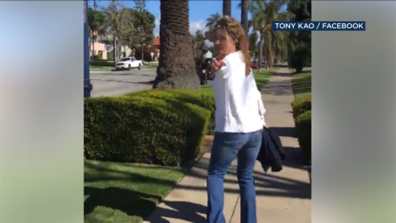 "A Long Beach man and his wife recorded an encounter with a woman who told them ""Go back to your country."""