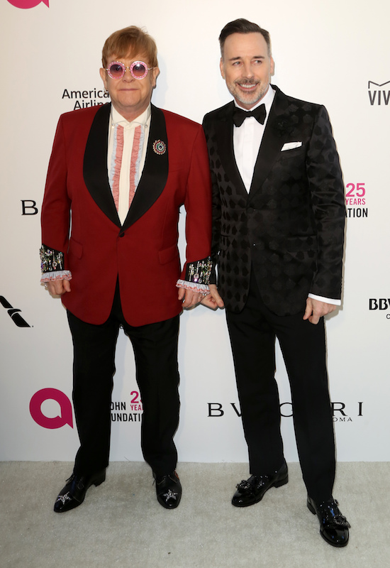 "<div class=""meta image-caption""><div class=""origin-logo origin-image ap""><span>AP</span></div><span class=""caption-text"">Sir Elton John, left, and David Furnish arrive at the 2018 Elton John AIDS Foundation Oscar Viewing Party on Sunday, March 4, 2018, in West Hollywood, Calif. (Willy Sanjuan/Invision/AP)</span></div>"