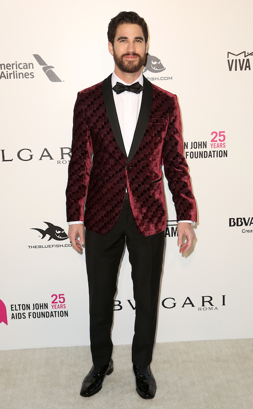 "<div class=""meta image-caption""><div class=""origin-logo origin-image ap""><span>AP</span></div><span class=""caption-text"">Darren Criss arrives at the 2018 Elton John AIDS Foundation Oscar Viewing Party on Sunday, March 4, 2018, in West Hollywood, Calif. (Willy Sanjuan/Invision/AP)</span></div>"