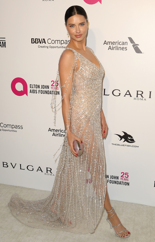 """<div class=""""meta image-caption""""><div class=""""origin-logo origin-image ap""""><span>AP</span></div><span class=""""caption-text"""">Adriana Lima arrives at the 2018 Elton John AIDS Foundation Oscar Viewing Party on Sunday, March 4, 2018, in West Hollywood, Calif. (Willy Sanjuan/Invision/AP)</span></div>"""