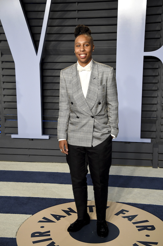 "<div class=""meta image-caption""><div class=""origin-logo origin-image ap""><span>AP</span></div><span class=""caption-text"">Lena Waithe arrives at the Vanity Fair Oscar Party on Sunday, March 4, 2018, in Beverly Hills, Calif. (Evan Agostini/Invision/AP)</span></div>"