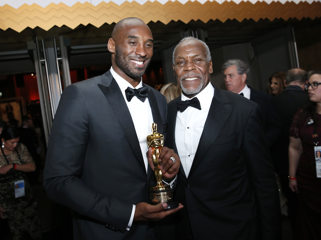 "<div class=""meta image-caption""><div class=""origin-logo origin-image ap""><span>AP</span></div><span class=""caption-text"">Kobe Bryant, winner of the award for best animated short for ""Dear Basketball"", left, and Danny Glover attend the Governors Ball after the Oscars on Sunday, March 4, 2018. (Eric Jamison/Invision/AP)</span></div>"