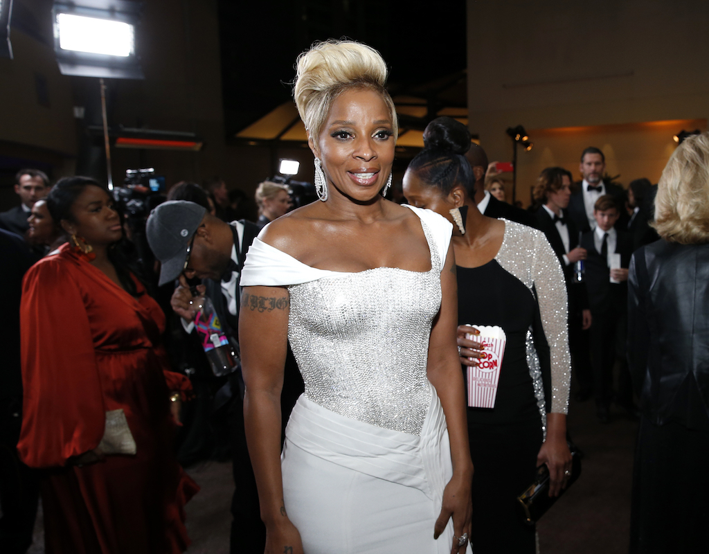 "<div class=""meta image-caption""><div class=""origin-logo origin-image ap""><span>AP</span></div><span class=""caption-text"">Mary J. Blige attends the Governors Ball after the Oscars on Sunday, March 4, 2018, at the Dolby Theatre in Los Angeles. (Eric Jamison/Invision/AP)</span></div>"
