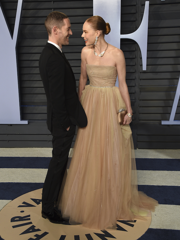 "<div class=""meta image-caption""><div class=""origin-logo origin-image ap""><span>AP</span></div><span class=""caption-text"">Michael Polish, left, and Kate Bosworth arrive at the Vanity Fair Oscar Party on Sunday, March 4, 2018, in Beverly Hills, Calif. (Evan Agostini/Invision/AP)</span></div>"