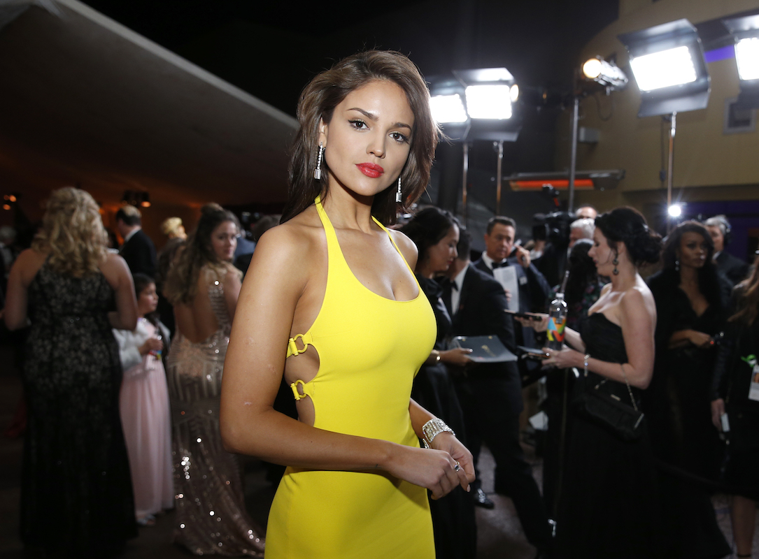 "<div class=""meta image-caption""><div class=""origin-logo origin-image ap""><span>AP</span></div><span class=""caption-text"">Eiza Gonzalez attends the Governors Ball after the Oscars on Sunday, March 4, 2018, at the Dolby Theatre in Los Angeles. (Eric Jamison/Invision/AP)</span></div>"