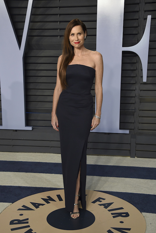 """<div class=""""meta image-caption""""><div class=""""origin-logo origin-image ap""""><span>AP</span></div><span class=""""caption-text"""">Minnie Driver arrives at the Vanity Fair Oscar Party on Sunday, March 4, 2018, in Beverly Hills, Calif. (Evan Agostini/Invision/AP)</span></div>"""
