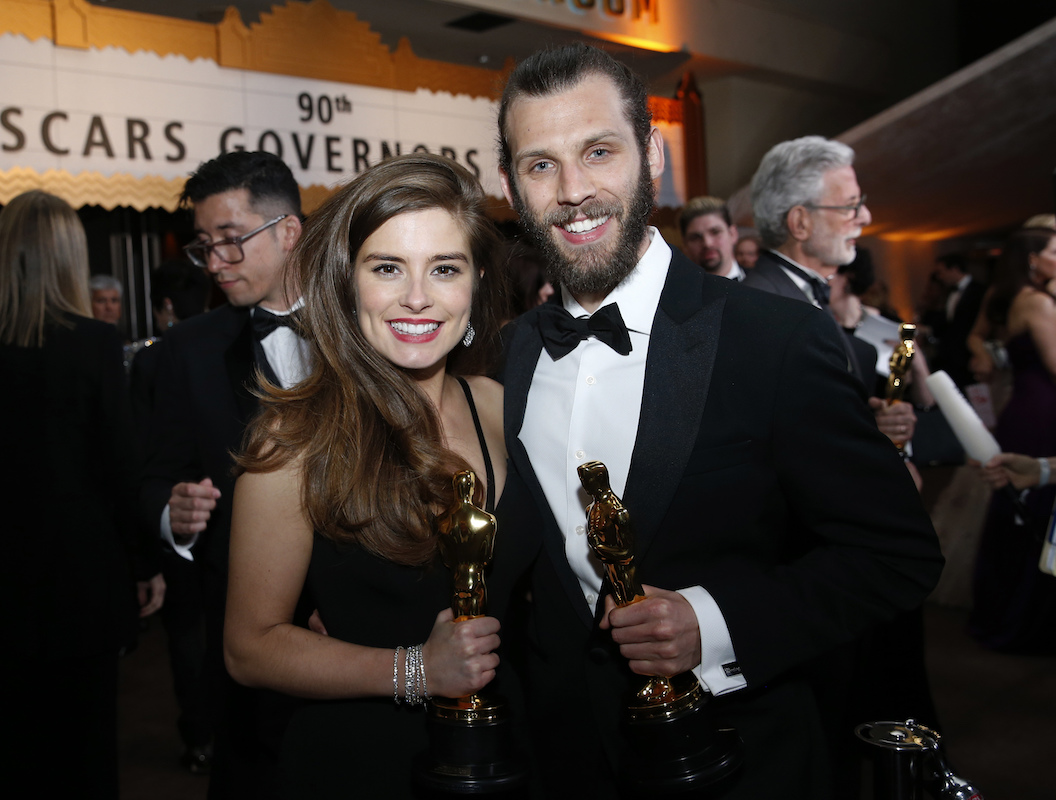 "<div class=""meta image-caption""><div class=""origin-logo origin-image ap""><span>AP</span></div><span class=""caption-text"">Rachel Shenton, left, and Chris Overton, winners of the award for best live action short for ""The Silent Child€"", attends the Governors Ball. (Eric Jamison/Invision/AP)</span></div>"