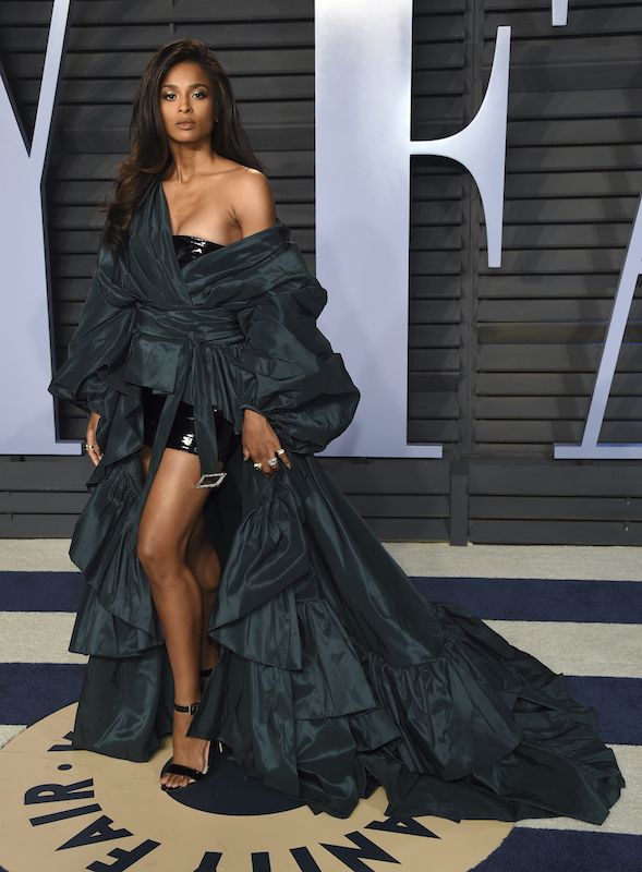 "<div class=""meta image-caption""><div class=""origin-logo origin-image ap""><span>AP</span></div><span class=""caption-text"">Ciara arrives at the Vanity Fair Oscar Party on Sunday, March 4, 2018, in Beverly Hills, Calif. (Evan Agostini/Invision/AP)</span></div>"