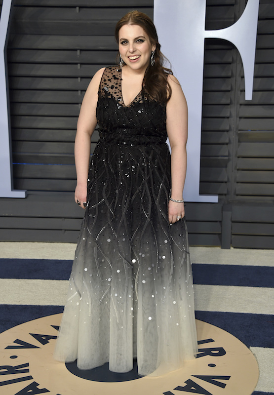 "<div class=""meta image-caption""><div class=""origin-logo origin-image ap""><span>AP</span></div><span class=""caption-text"">Beanie Feldstein arrives at the Vanity Fair Oscar Party on Sunday, March 4, 2018, in Beverly Hills, Calif. (Evan Agostini/Invision/AP)</span></div>"