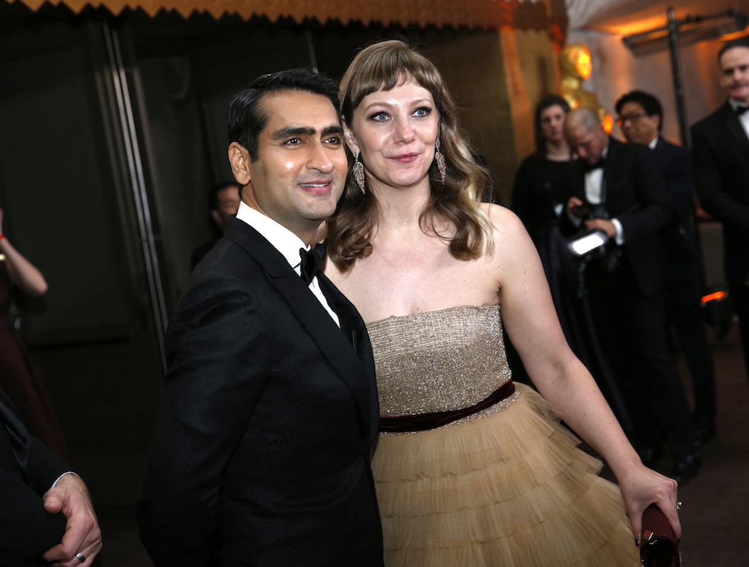 "<div class=""meta image-caption""><div class=""origin-logo origin-image ap""><span>AP</span></div><span class=""caption-text"">Kumail Nanjiani, left, and Emily V. Gordon attend the Governors Ball after the Oscars on Sunday, March 4, 2018, at the Dolby Theatre in Los Angeles. (Eric Jamison/Invision/AP)</span></div>"