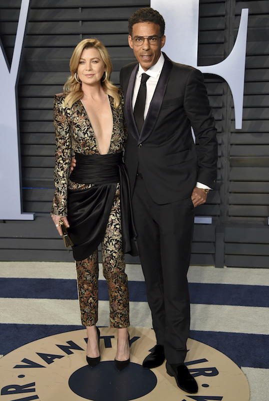 "<div class=""meta image-caption""><div class=""origin-logo origin-image ap""><span>AP</span></div><span class=""caption-text"">Ellen Pompeo, left, and Chris Ivery arrive at the Vanity Fair Oscar Party on Sunday, March 4, 2018, in Beverly Hills, Calif. (Evan Agostini/Invision/AP)</span></div>"
