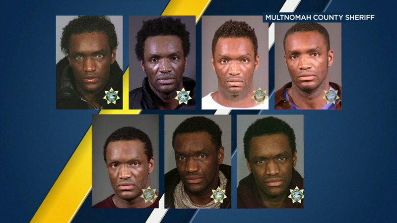 Series of mugshots surface of man accused of stealing Oscar