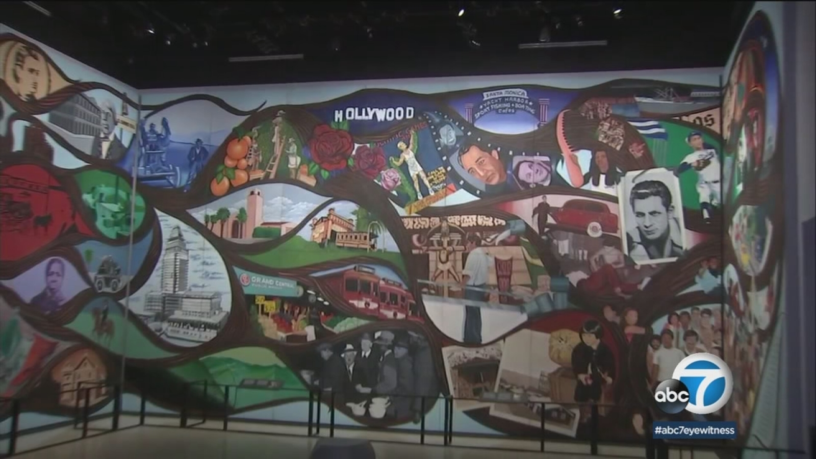 Landmark Mural Comes To Natural History Museum Of Los Angeles Abc7 Los Angeles
