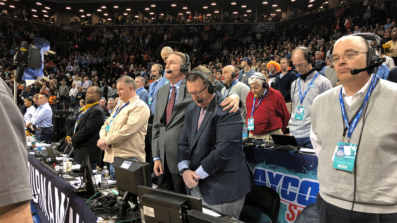 A moment of silence was held for Woody Durham before the UNC-Syracuse game Wednesday night.