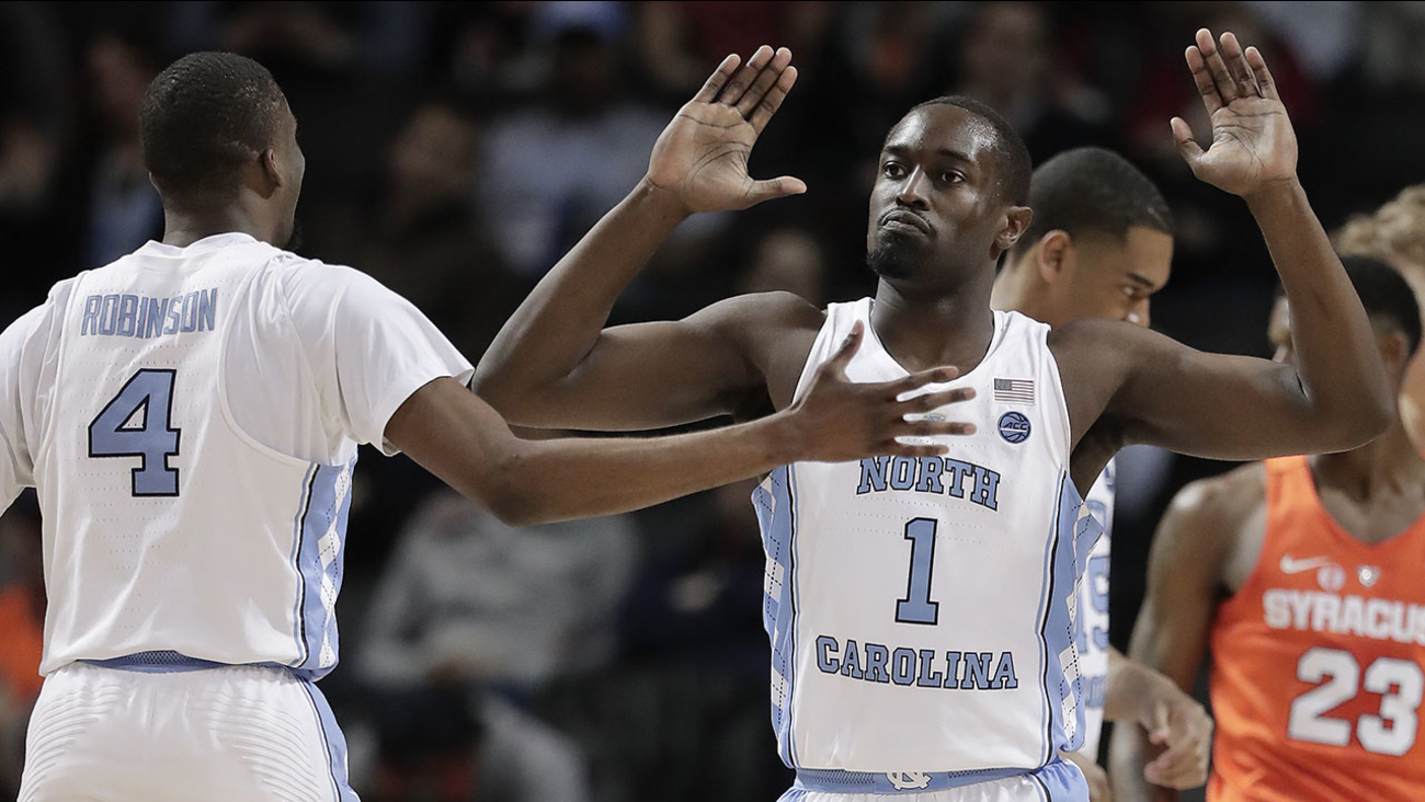 The Tar Heels snapped a two-game losing skid by beating Syracuse in their opening game of the ACC Tournament on Wednesday.