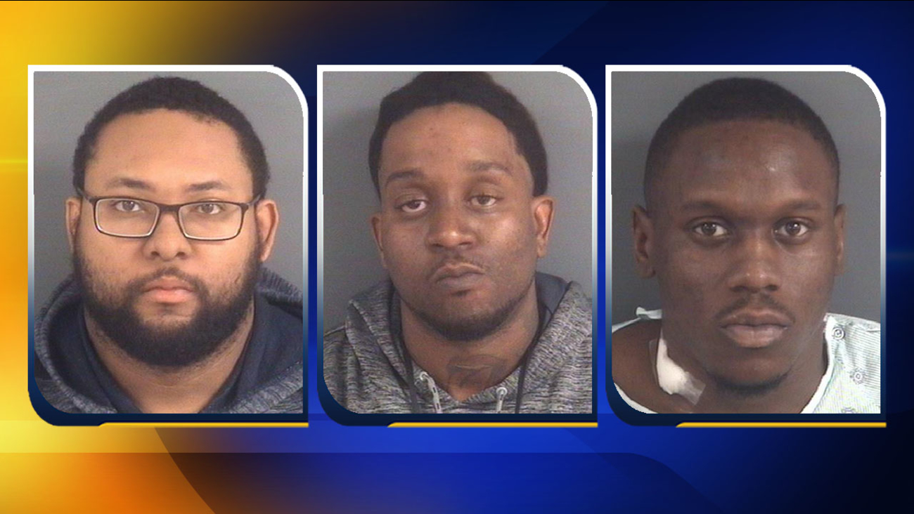From left, Christopher S. Grubbs, Malike A. Newsam, and Antwan K. Lawrence.