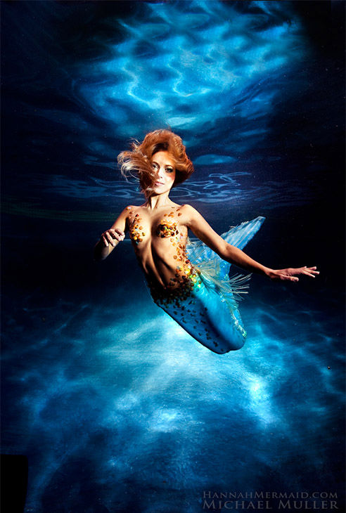 """<div class=""""meta image-caption""""><div class=""""origin-logo origin-image """"><span></span></div><span class=""""caption-text"""">Born in Byron Bay, Australia, Hannah Fraser was obsessed with mermaids since an early age. Not just a model, Hannah is a perforance artist with an ocean conservation agenda. (Michael Muller/HannahMermaid.com)</span></div>"""