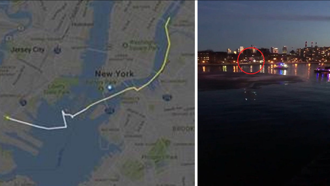 Map Shows Exact Path Helicopter Took Over East River Abc7ny Com