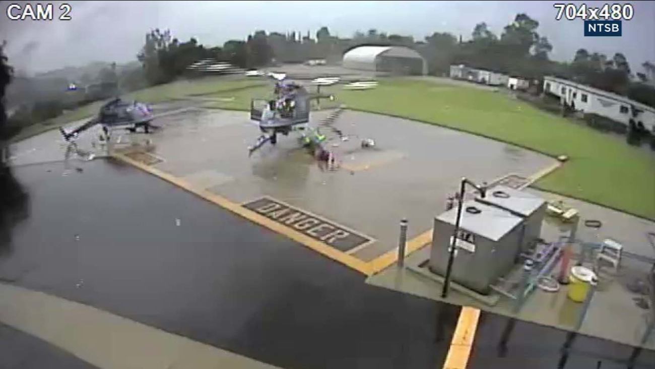 VIDEO 2 Helicopters Collide At Pasadena Police Department Heliport