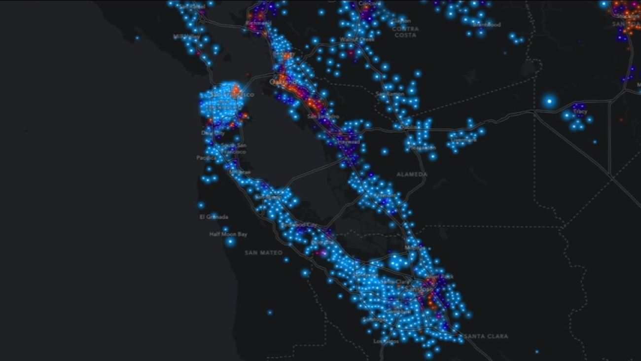 Interactive Map Reveals Jarring Wealth Gap Between Bay Area Rest Of United States Abc7 San Francisco California department of conservation, 2014. wealth gap between bay area