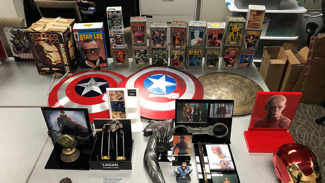Police recovered $1.4 million in stolen Marvel collectibles from a storage facility in Colton and arrested two suspects in the theft.