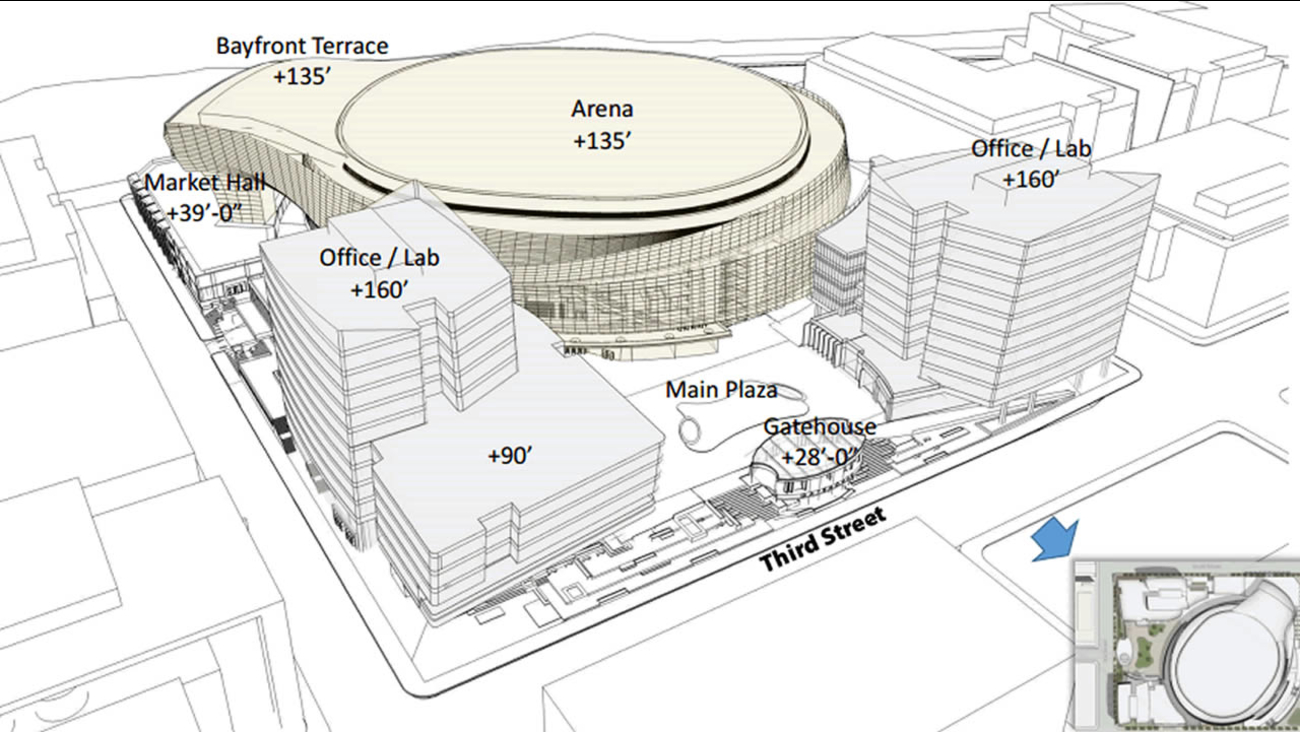 Warriors new arena drawing