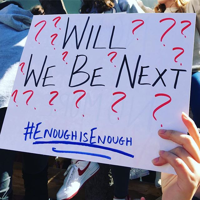 <div class='meta'><div class='origin-logo' data-origin='Creative Content'></div><span class='caption-text' data-credit='StylistoftheLambs3/Instagram'>Students protest during the #ENOUGH National School Walkout in New York City.</span></div>