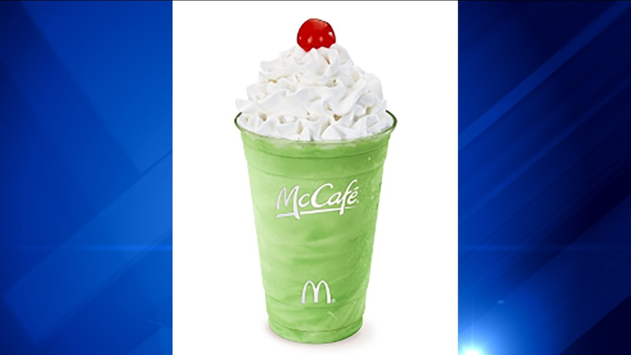 Shamrock Shakes giveaway at Daley Center Plaza on Wednesday