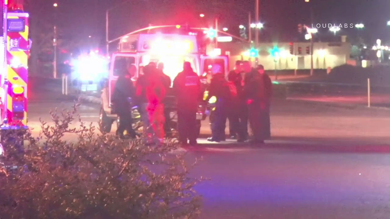 Paramedics treated a man and woman in their 20s who were stabbed at a Victorville apartment.