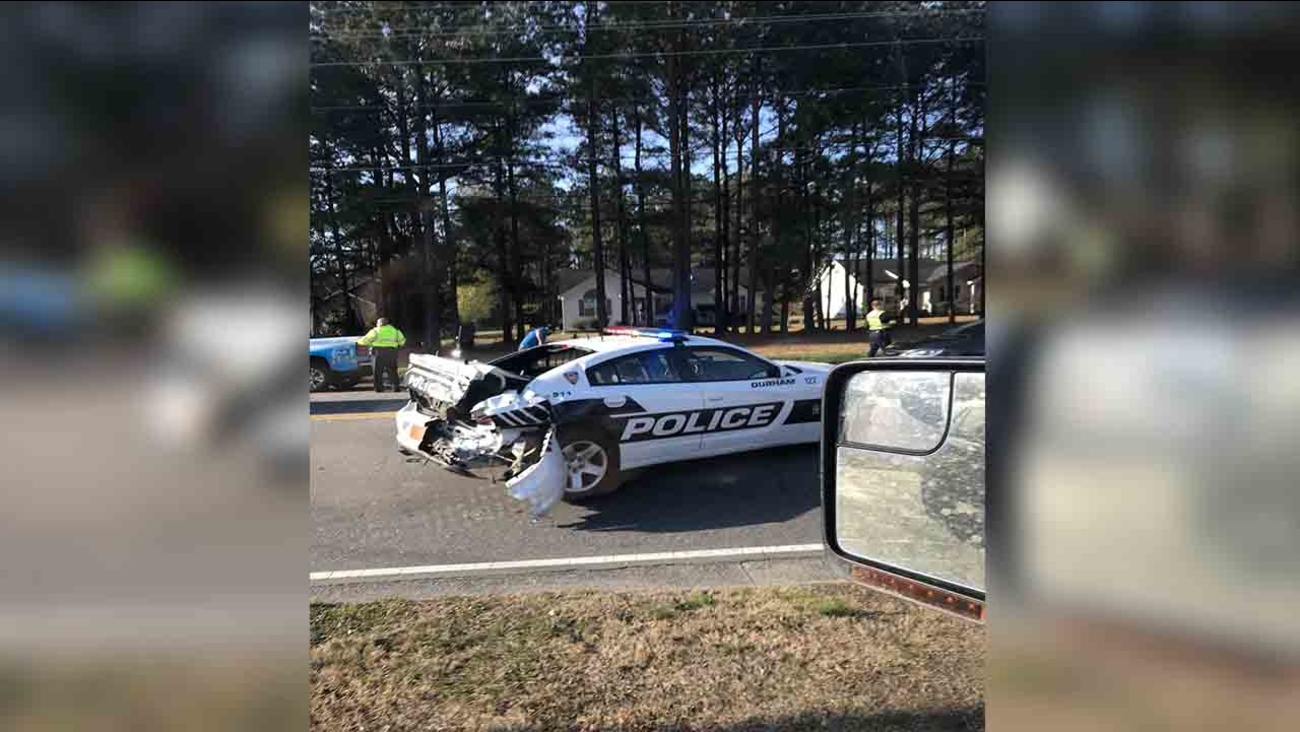 Two Durham police officers injured in crash