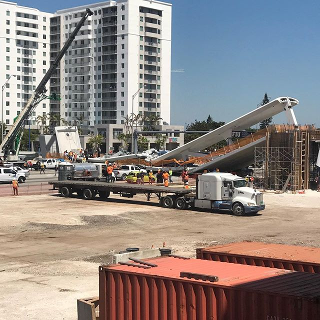 <div class='meta'><div class='origin-logo' data-origin='none'></div><span class='caption-text' data-credit='@magno.meza / Instagram'>Moments after a pedestrian bridge collapsed on the Florida International University campus Thursday.</span></div>