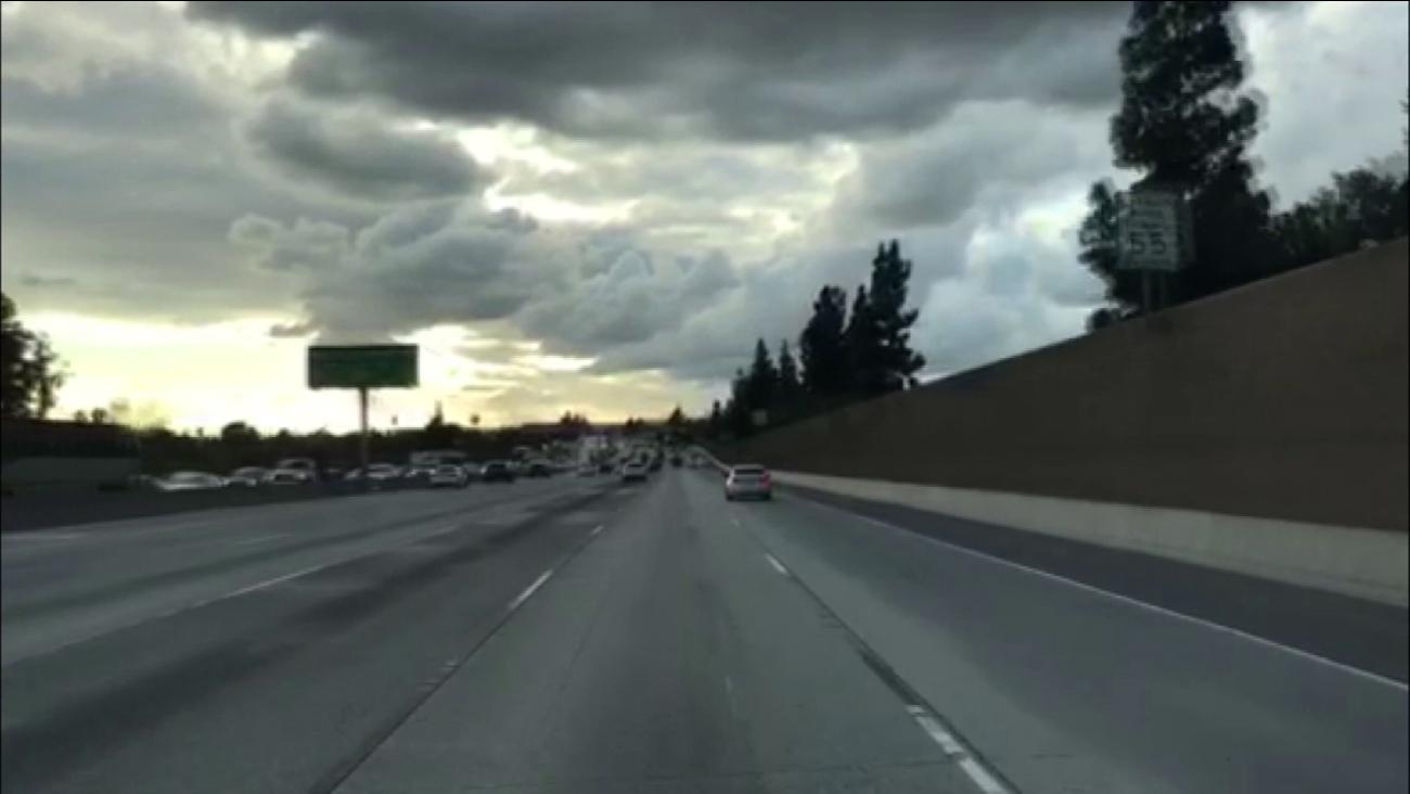 A stretch of the 210 Freeway in Duarte.