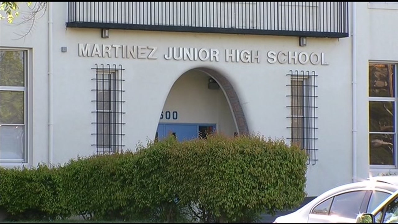 FILE -- Martinez Junior High School in Martinez, California.