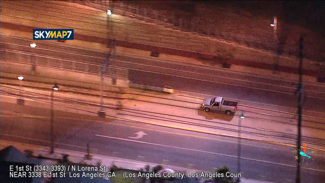 A suspect leads officers on a high-speed chase that ended in a Boyle Heights Metro station tunnel on Feb. 20, 2018.