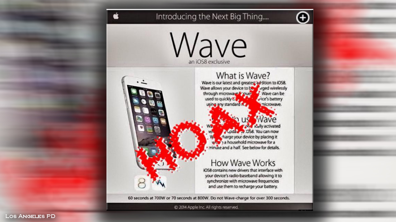 iPhone Wave Hoax