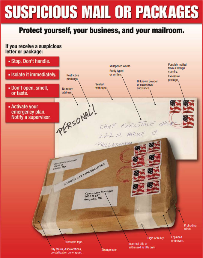 Suspicious packages: 9 signs of potential danger on your