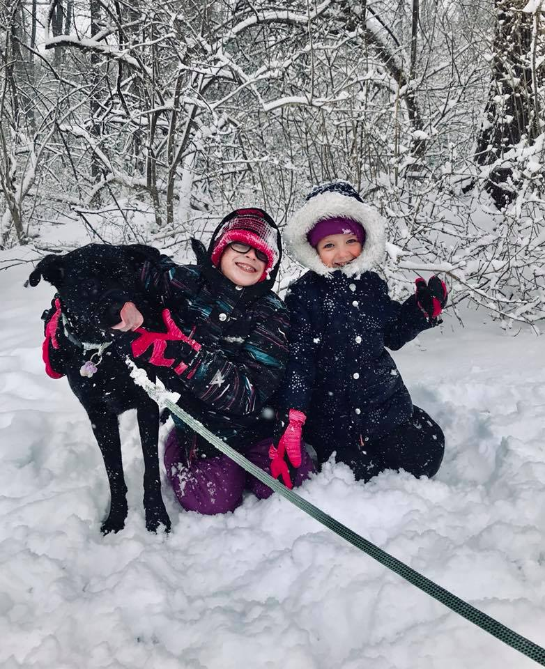 """<div class=""""meta image-caption""""><div class=""""origin-logo origin-image none""""><span>none</span></div><span class=""""caption-text"""">While some adults may not be enjoying another storm, these kids and their pup sure are! (Jamie BloomSamolewicz)</span></div>"""