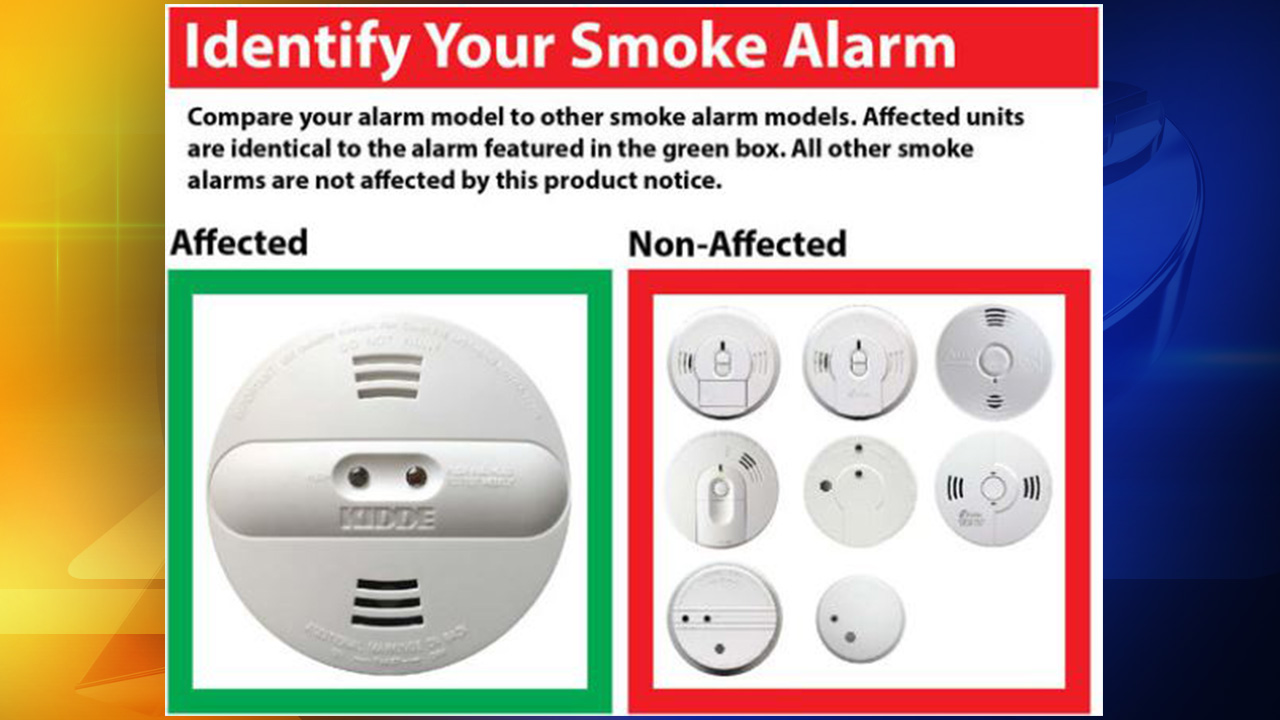 Image of the affected smoke alarm.